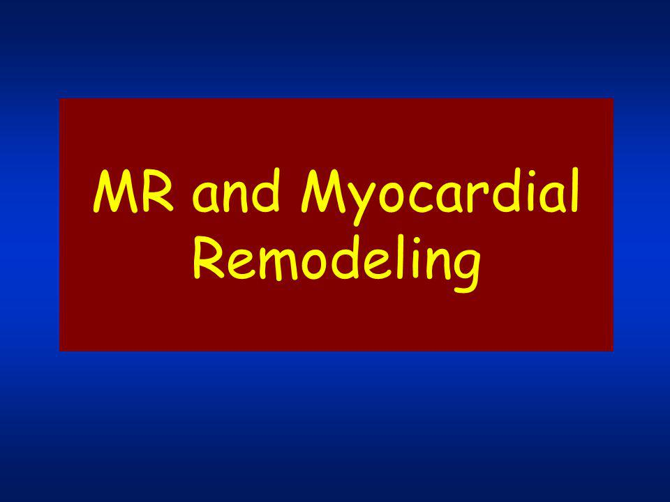 MR and Myocardial Remodeling