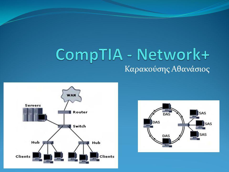Μέρη (Κεφάλαια) του Network+ 1.Βασικές έννοιες δικτύων 2.