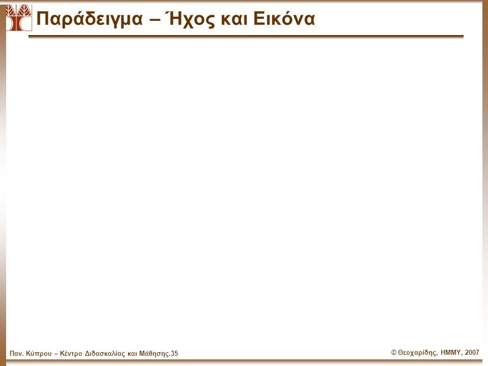© Θεοχαρίδης, ΗΜΜΥ, 2007 Παν.Κύπρου – Κέντρο Διδασκαλίας και Μάθησης.34 Οργανογράμματα 1.