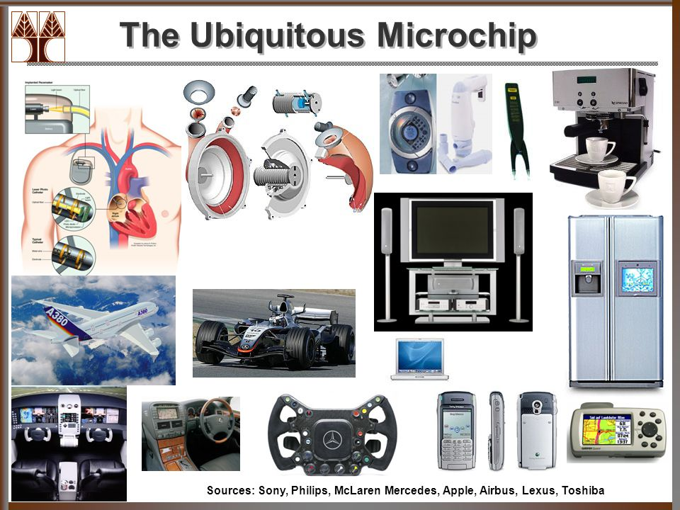 The Ubiquitous Microchip Sources: Sony, Philips, McLaren Mercedes, Apple, Airbus, Lexus, Toshiba