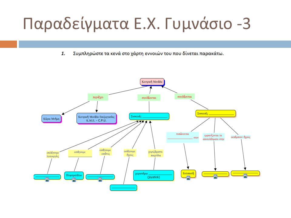 Παραδείγματα Ε. Χ. Γυμνάσιο -3
