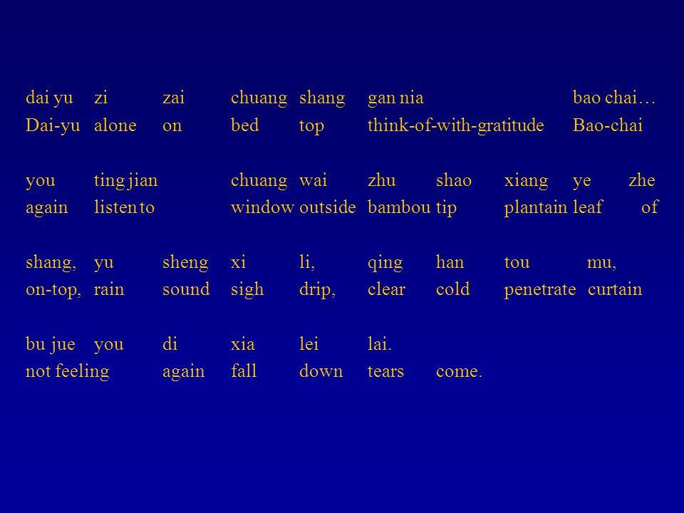 dai yuzizaichuangshanggan nia bao chai… Dai-yualoneonbedtopthink-of-with-gratitudeBao-chai youting jianchuangwaizhushaoxiangye zhe againlisten towindo