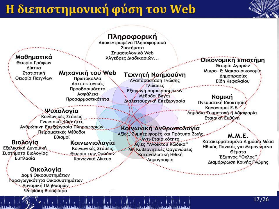 Η διεπιστημονική φύση του Web 17/26