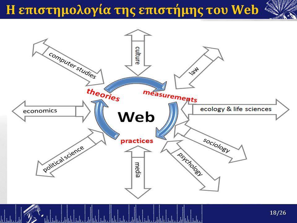 Η επιστημολογία της επιστήμης του Web 18/26