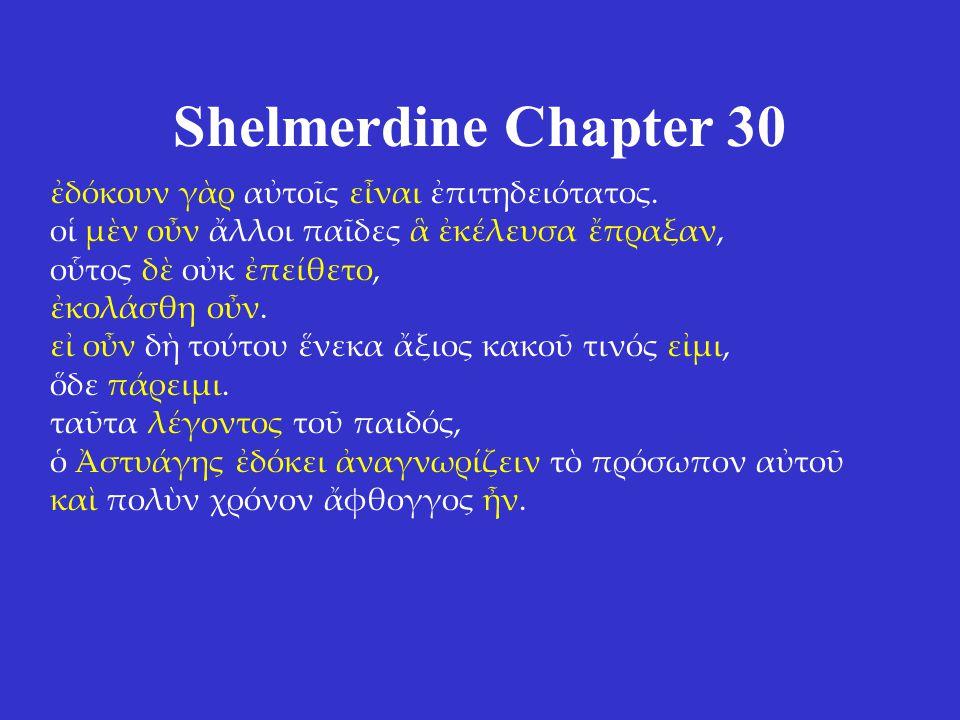 Shelmerdine Chapter 30 ἐδόκουν γὰρ αὐτοῖς εἶναι ἐπιτηδειότατος.