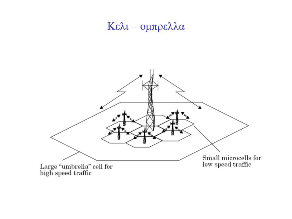 Παραδειγμα διαιρεσης κυτταρων Στο πιο κατω σχημα οι BS ειναι στις τρεις γωνιες καθε κυτταρου (τομεοποιηση).