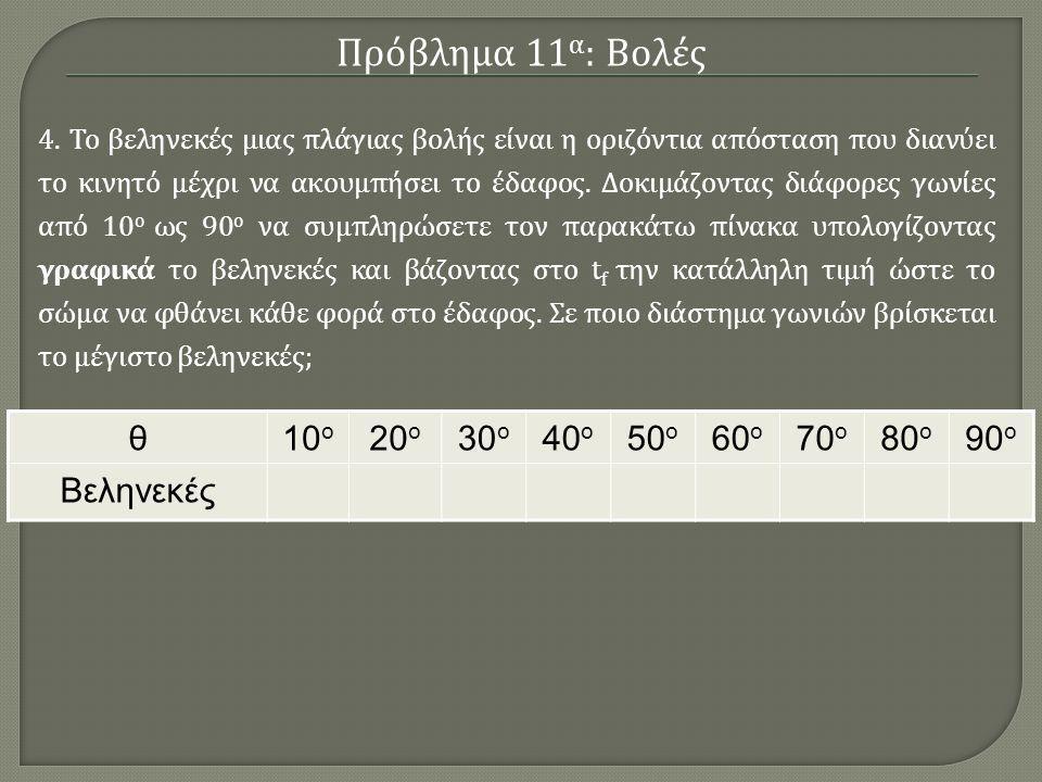 Πως μπορεί κανείς να λύσει προβλήματα Φυσικής με τη βοήθεια της Mathematica Πρόβλημα 11 α : Βολές Πρόβλημα 11 β : Κινήσεις Πλανητών