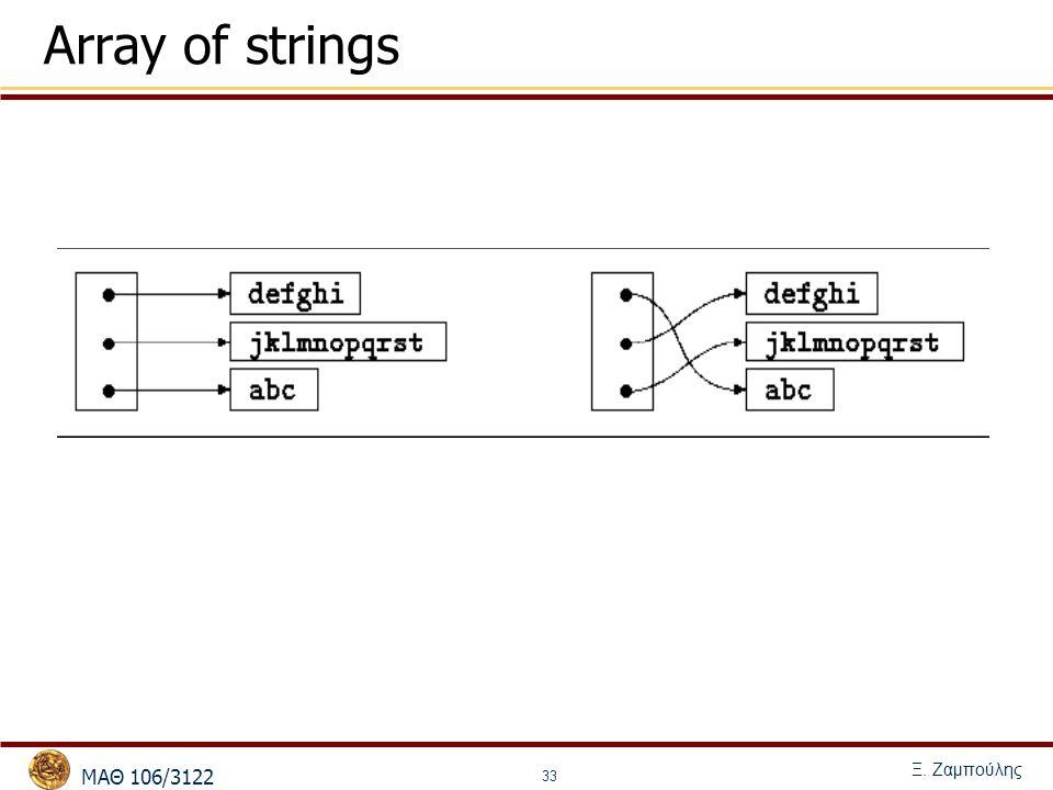 MΑΘ 106/3122 Ξ. Ζαμπούλης 33 Array of strings