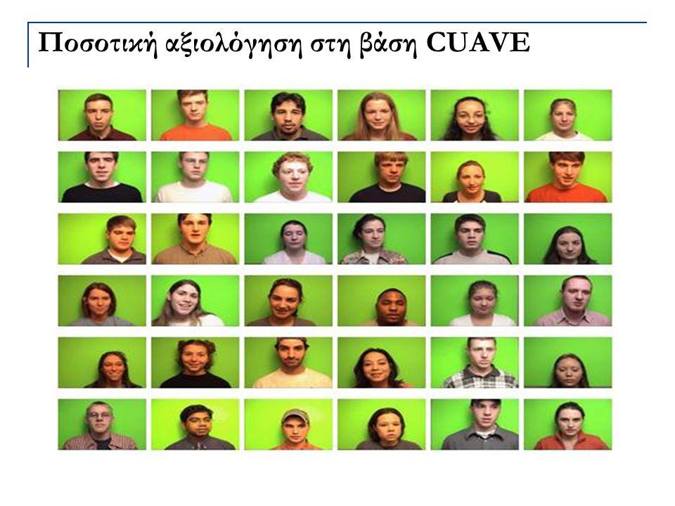 Ποσοτική αξιολόγηση στη βάση CUAVE