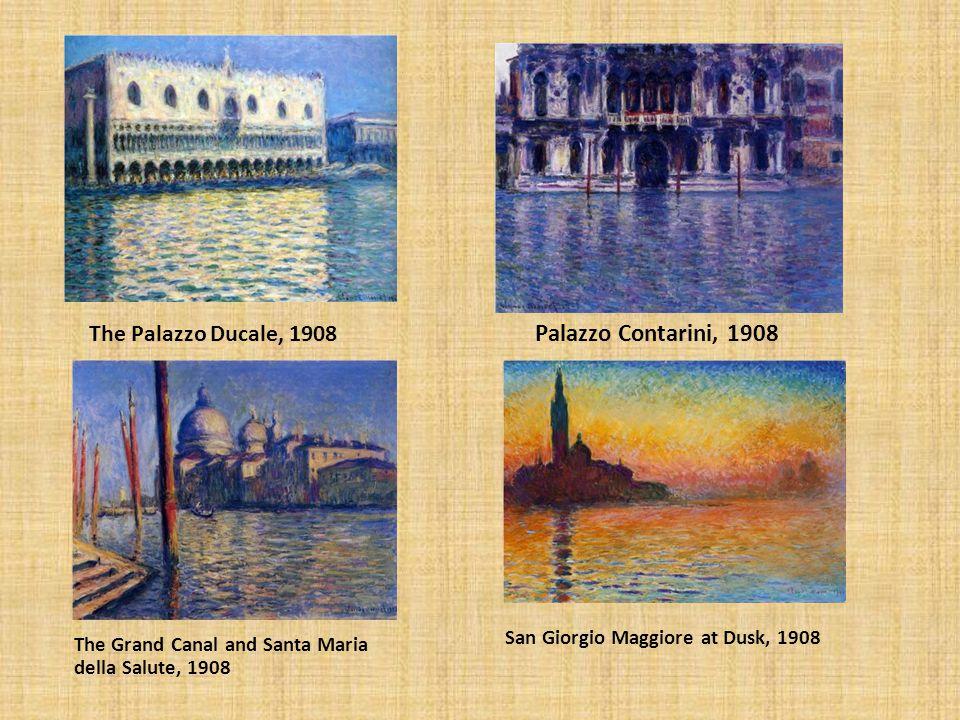 The Palazzo Ducale, 1908 Palazzo Contarini, 1908 The Grand Canal and Santa Maria della Salute, 1908 San Giorgio Maggiore at Dusk, 1908