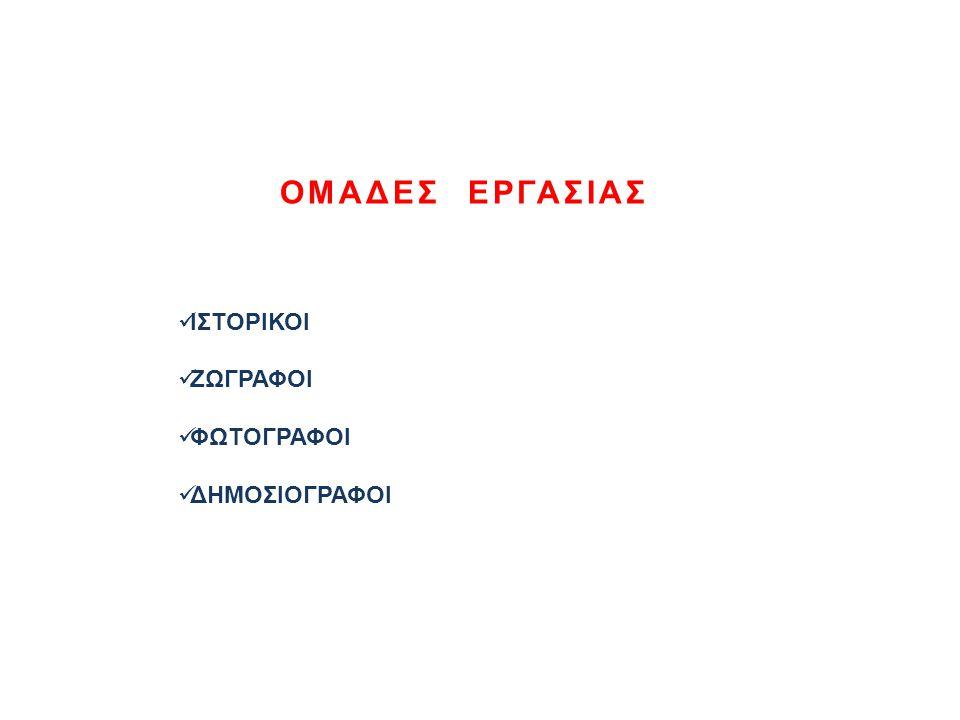 ΙΣΤΟΡΙΚΟΙ Xρονοδιάγραμμα (τοποθέτηση του Kάστρου στη γραμμή του χρόνου ).