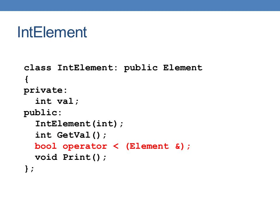 Παραδειγμα set #include using namespace std; int main(){ set S; string name; while (!cin.eof()){ cin >> name; S.insert(name); } set ::iterator iter = S.find( bob ); if (iter == S.end()){ cout << bob is not in\n ;} else{cout << bob is in\n ;} for (set ::iterator iter = S.begin(); iter != S.end(); iter ++){ cout << *iter << ; } cout << endl; }