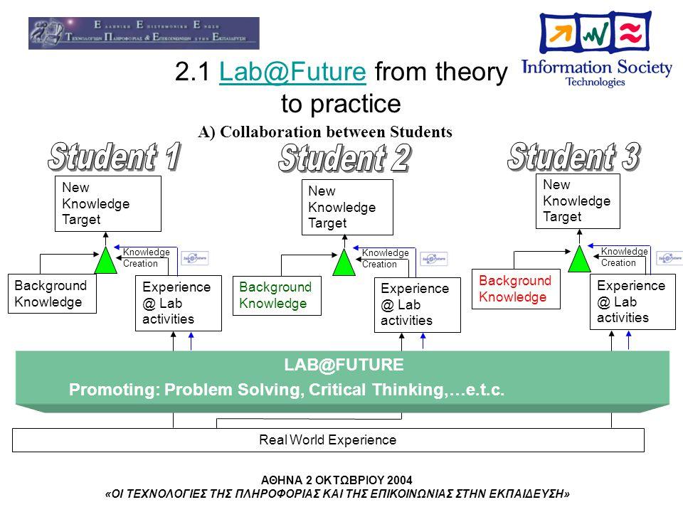 ΑΘΗΝΑ 2 ΟΚΤΩΒΡΙΟΥ 2004 «ΟΙ ΤΕΧΝΟΛΟΓΙΕΣ ΤΗΣ ΠΛΗΡΟΦΟΡΙΑΣ ΚΑΙ ΤΗΣ ΕΠΙΚΟΙΝΩΝΙΑΣ ΣΤΗΝ ΕΚΠΑΙΔΕΥΣΗ» 4.0 Next Steps Final system Learning outcome criteria Learning process criteria Organisational change