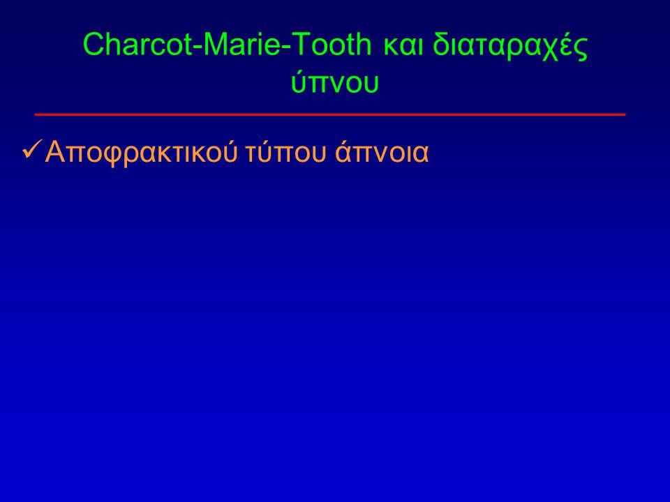Charcot-Marie-Tooth και διαταραχές ύπνου Αποφρακτικού τύπου άπνοια