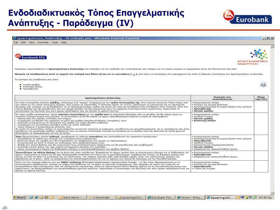 Ενδοδιαδικτυακός Τόπος Επαγγελματικής Ανάπτυξης - Παράδειγμα (IV) -20-