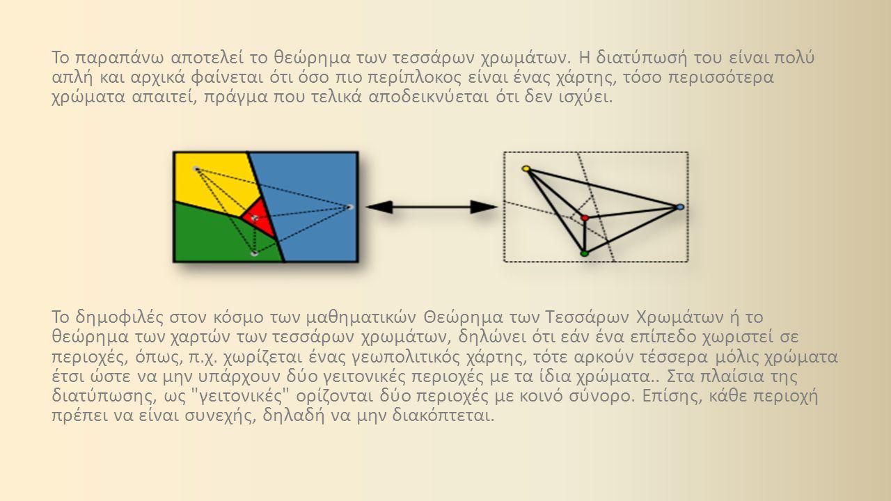 Το θεώρημα ακόμα και σήμερα δεν έχει βρει ανταπόκριση από μαθηματικούς ή σχεδιαστές χαρτών, έχει επιτευχθεί όμως η απόδειξή του με τη βοήθεια ηλεκτρονικού υπολογιστή.