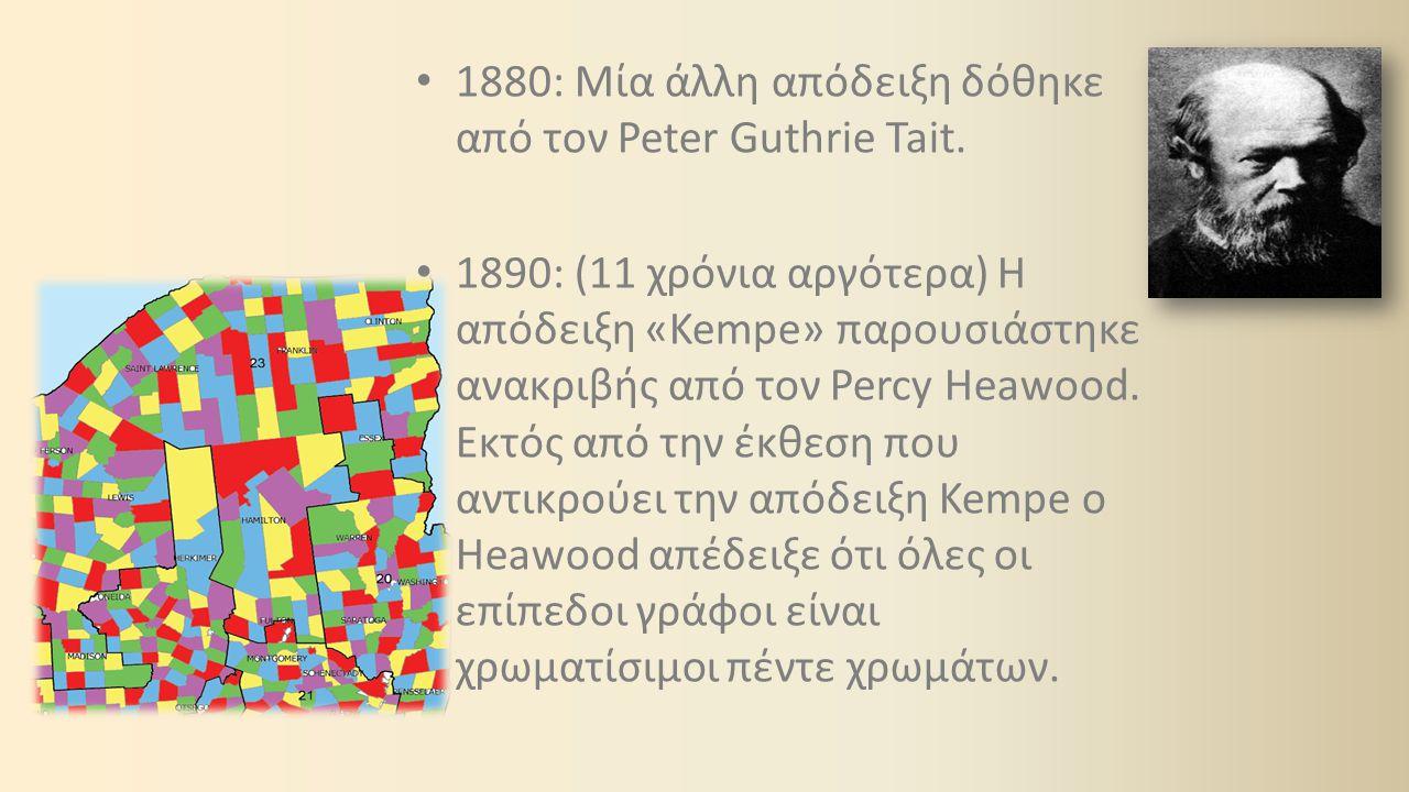 1891: Η απόδειξη Tait ακυρώθηκε από τον Julius Petersen.