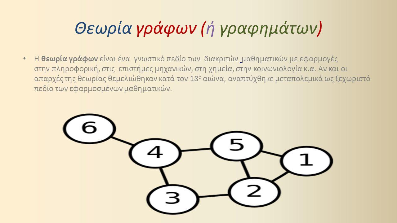 Στην ελληνική ορολογία οι όροι θεωρία γραφημάτων και θεωρία γράφων χρησιμοποιούνται ως ισοδύναμοι.
