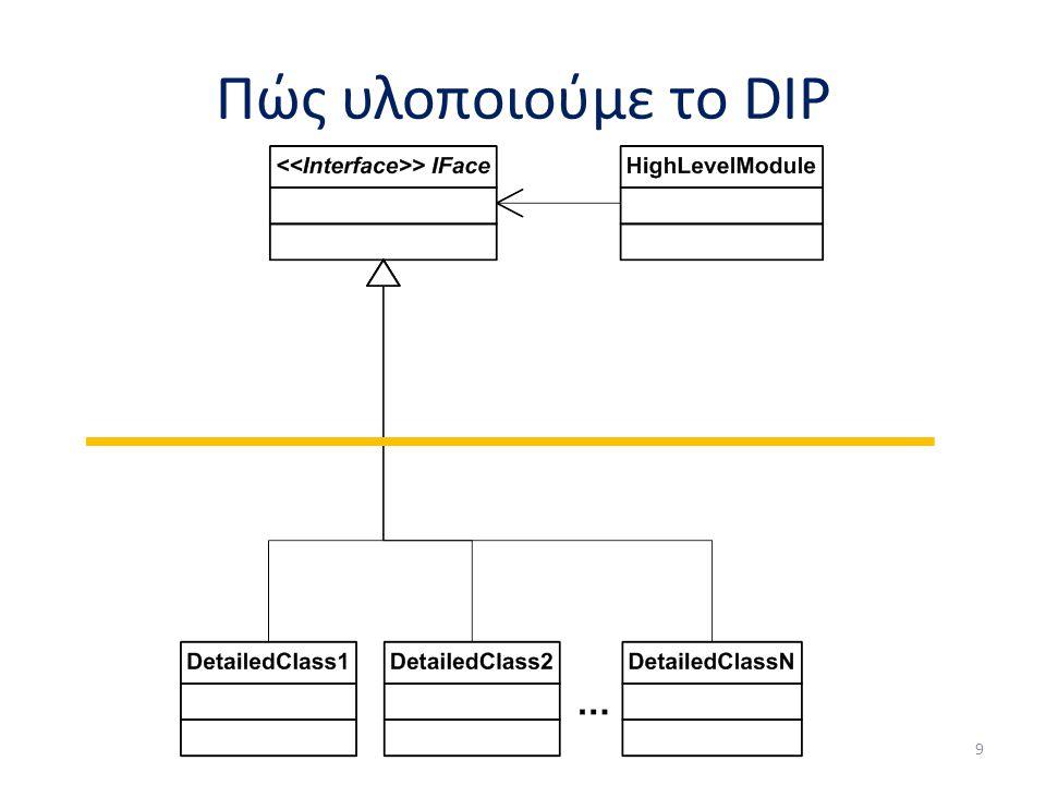 Πώς υλοποιούμε το DIP 9