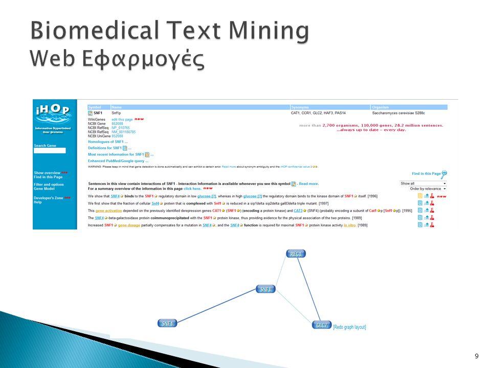  Τα βασικά βήματα για την ανάλυση κειμένων είναι:  Προεπεξεργασία Κειμένων  Αναπαράσταση Κειμένων  Εξαγωγή Χαρακτηριστικών Γνωρισμάτων των κειμένων 10