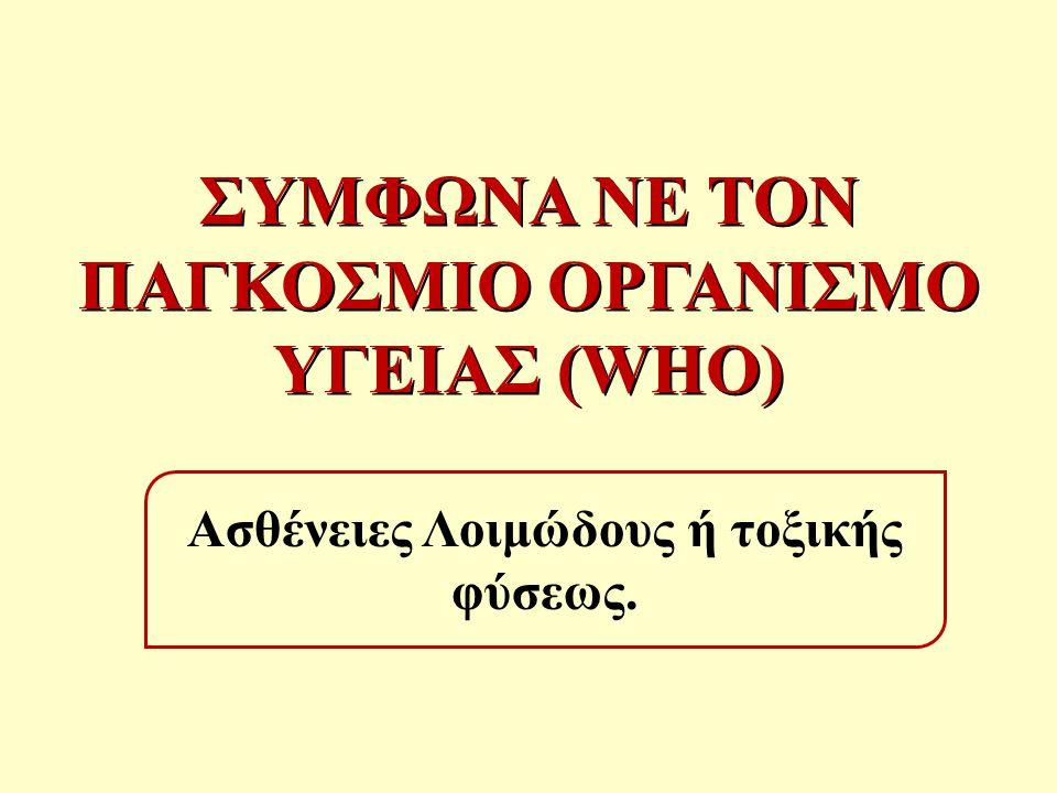 ΔΙΕΘΝΕΣ ΣΥΣΤΗΜΑ ΤΟΥ WHO ΓΙΑ ΤΗΝ ΑΣΦΑΛΕΙΑ ΤΩΝ ΤΡΟΦΙΜΩΝ (WHO INTERNATIONAL FOOD SAFETY AUTHORITIES NETWORK -INFOSAN)  Διεθνείς οργανισμοί συμπεριλαμβανομένου των FAO, WHO, OIE, και του Κώδικα Τροφίμων (Codex Alimentarius), ίδρυσαν το 2004 τον INFOSAN που αποτελεί διεθνή οργανισμό επικοινωνίας για τις τροφιμογενείς λοιμώξεις.