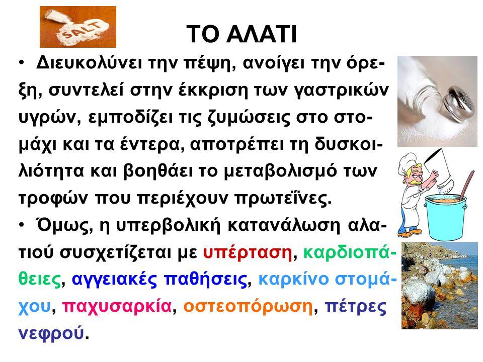 Η ΖΑΧΑΡΗ Οι αλλαγές στη διατροφή του Έλληνα είναι σημαντικές τα τελευταία χρόνια.