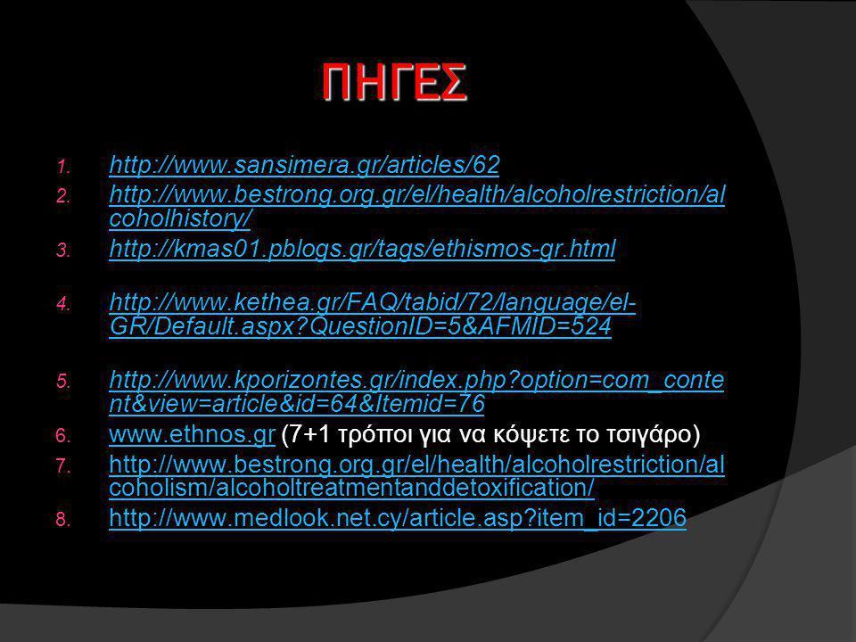 ΠΗΓΕΣ 1.http://www.sansimera.gr/articles/62 http://www.sansimera.gr/articles/62 2.