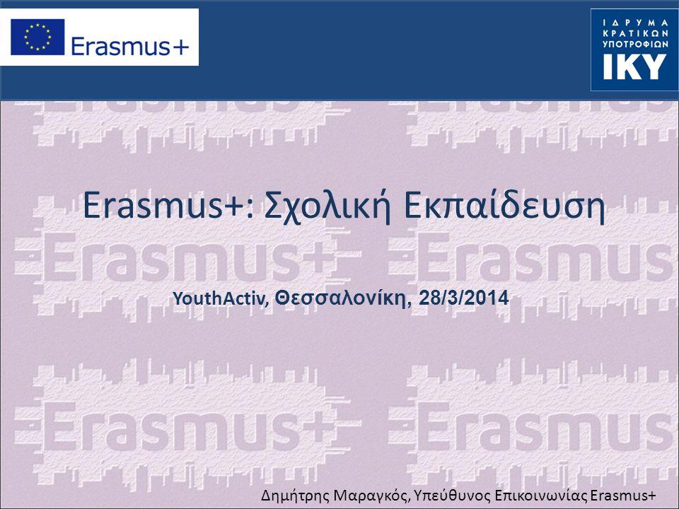 Πρόγραμμα Νεολαία σε Δράση Διεθνή Προγράμματα Ανώτατης Εκπαίδευσης Erasmus Mundus, Tempus, Alfa, Edulink, Διμερή Προγράμματα συνεργασίας Διεθνή Προγράμματα Ανώτατης Εκπαίδευσης Erasmus Mundus, Tempus, Alfa, Edulink, Διμερή Προγράμματα συνεργασίας Πρόγραμμα δια Βίου Μάθηση: Erasmus Grundtvig Leonardo Comenius Πρόγραμμα δια Βίου Μάθηση: Erasmus Grundtvig Leonardo Comenius Ένα ενιαίο πρόγραμμα ΥΠΑΡΧΟΝΤΑ ΠΡΟΓΡΑΜΜΑΤΑ 3 βασικοί πυλώνες 1.