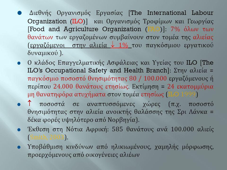  Διεθνής Οργανισμός Εργασίας [The International Labour Organization (ILO)] και Οργανισμός Τροφίμων και Γεωργίας [Food and Agriculture Organization (F