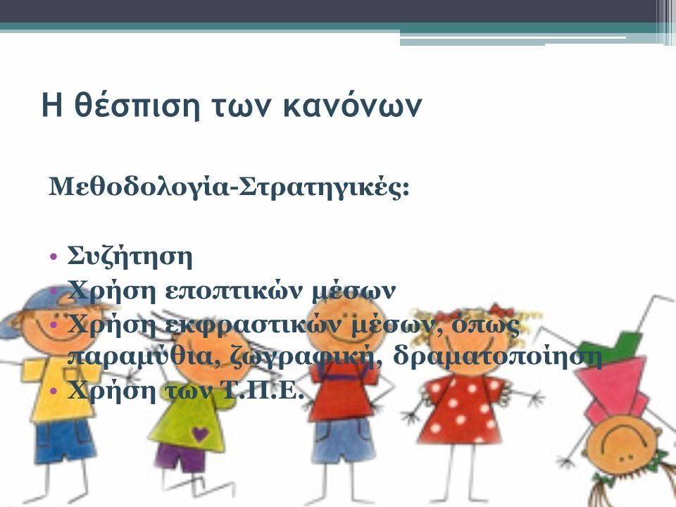 Αποτελέσματα Μέσα από τις συζητήσεις τα παιδιά εξάγουν συμπεράσματα ως προς την επιθυμητή συμπεριφορά.