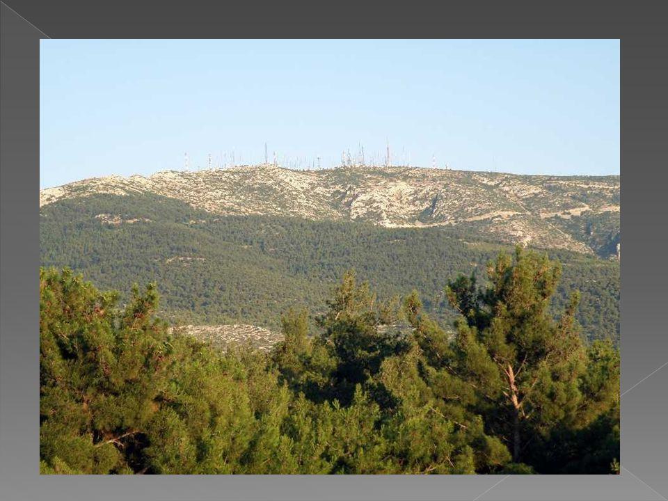 Η μονή της Καισαριανής βρίσκεται στη μέση της Δυτικής πλευράς του Υμηττού.