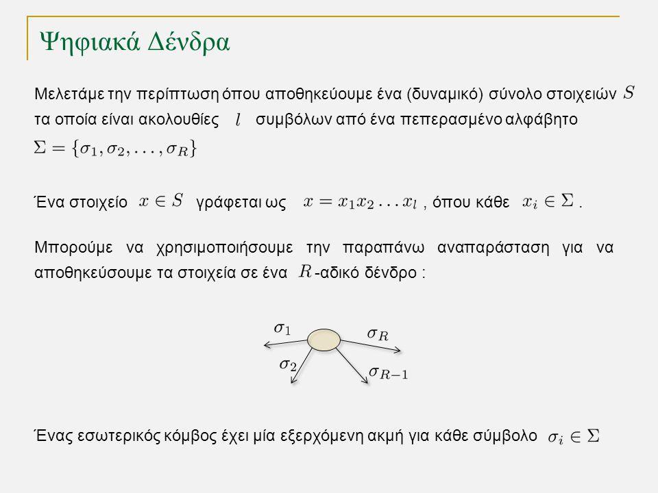 Tries για αποθήκευση αλφαριθμητικών TexPoint fonts used in EMF.