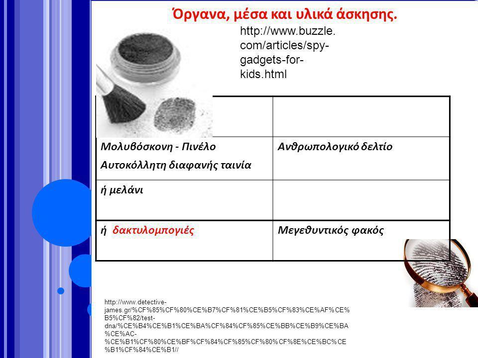 http://www.buzzle. com/articles/spy- gadgets-for- kids.html http://www.detective- james.gr/%CF%85%CF%80%CE%B7%CF%81%CE%B5%CF%83%CE%AF%CE% B5%CF%82/tes
