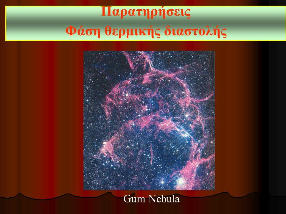 Παρατηρήσεις Φάση θερμικής διαστολής Gum Nebula