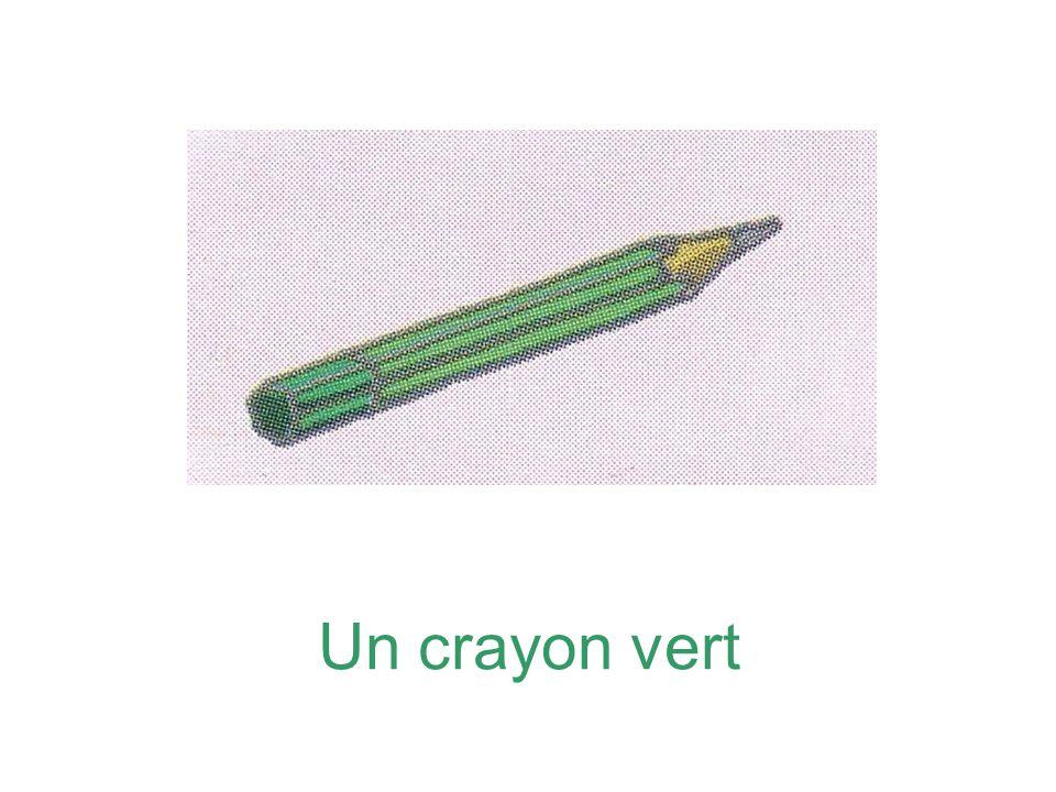 Un crayon vert