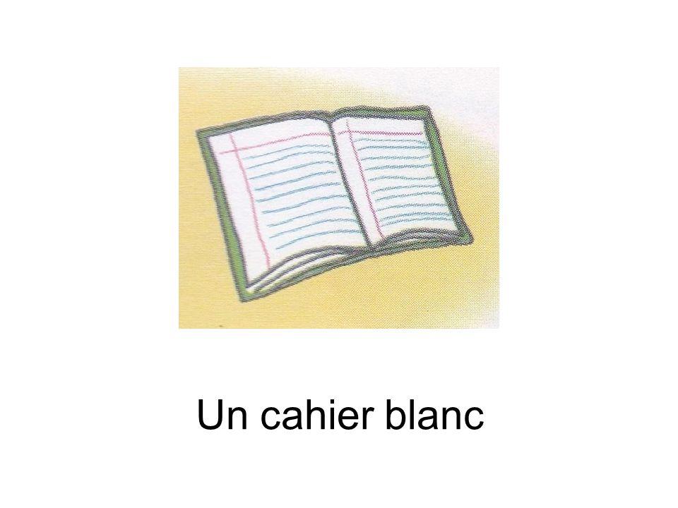 Un cahier blanc