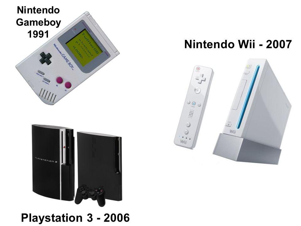 Nintendo Gameboy 1991 Playstation 3 - 2006 Nintendo Wii - 2007