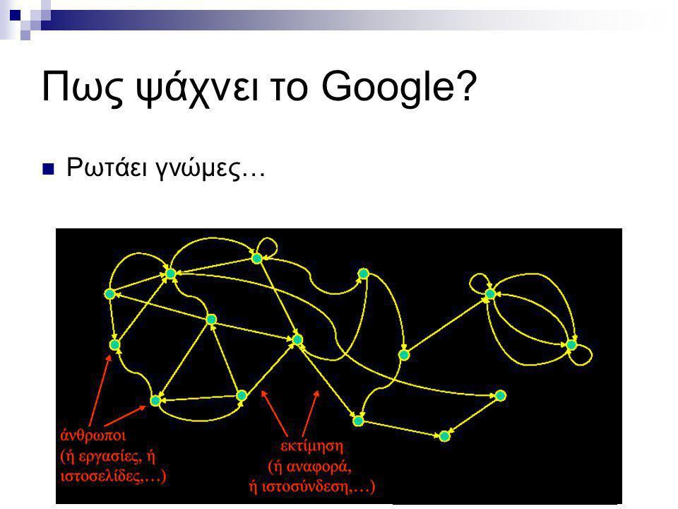 Πως ψάχνει το Google? Ρωτάει γνώμες…