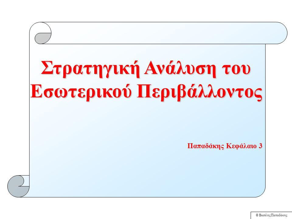 © Βασίλης Παπαδάκης Πιθανά Κριτήρια Ταξινόμησης Επιχειρήσεων ενός Κλάδου σε Στρατηγικές Ομάδες 1.