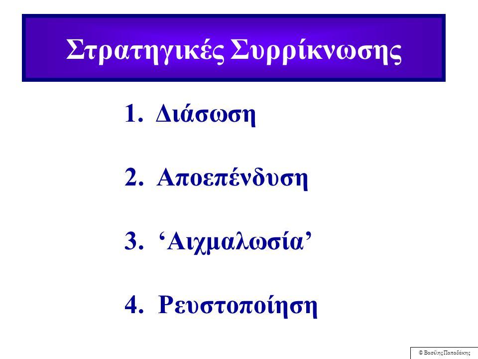 © Βασίλης Παπαδάκης 68 Οι Στρατηγικές στην πράξη Ορίζεται ως Επιδίωξη αυξημένων αγοραστικών μεριδίων για υπάρχοντα προϊόντα ή υπηρεσίες σε υπάρχουσες