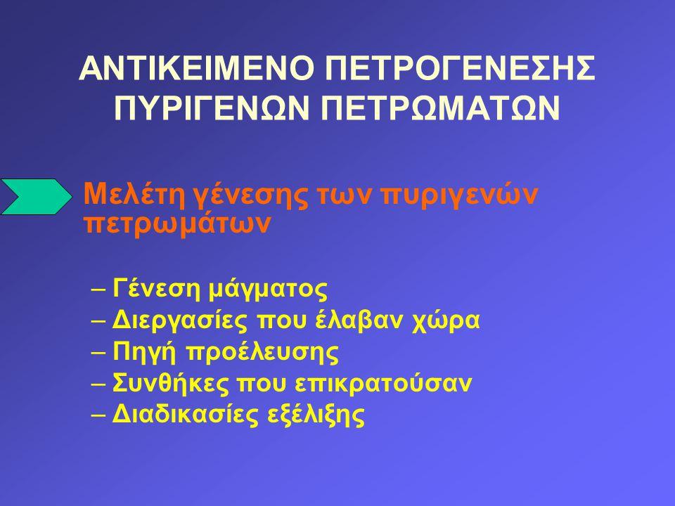 ΓΕΝΕΣΗ ΜΑΓΜΑΤΟΣ Πηγή θερμικής ενέργειας: Ραδιενέργεια.