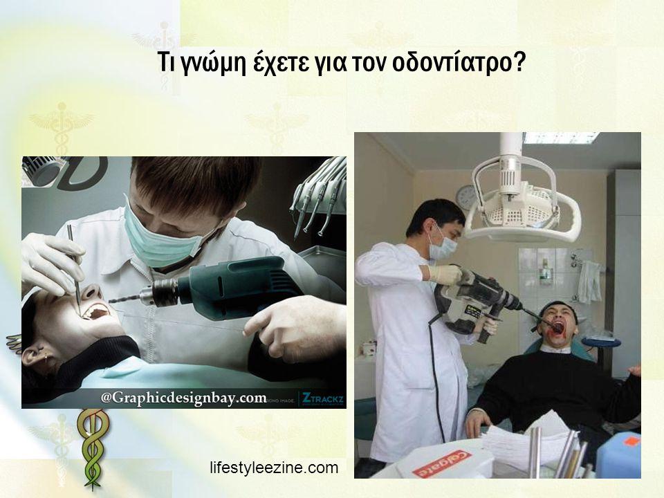 Τι γνώμη έχετε για τον οδοντίατρο? lifestyleezine.com