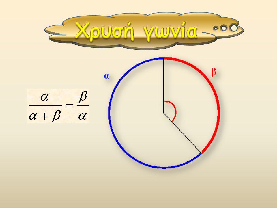 Το χρυσό ορθογώνιο έχει λόγο των πλευρών του ίσο με φ.