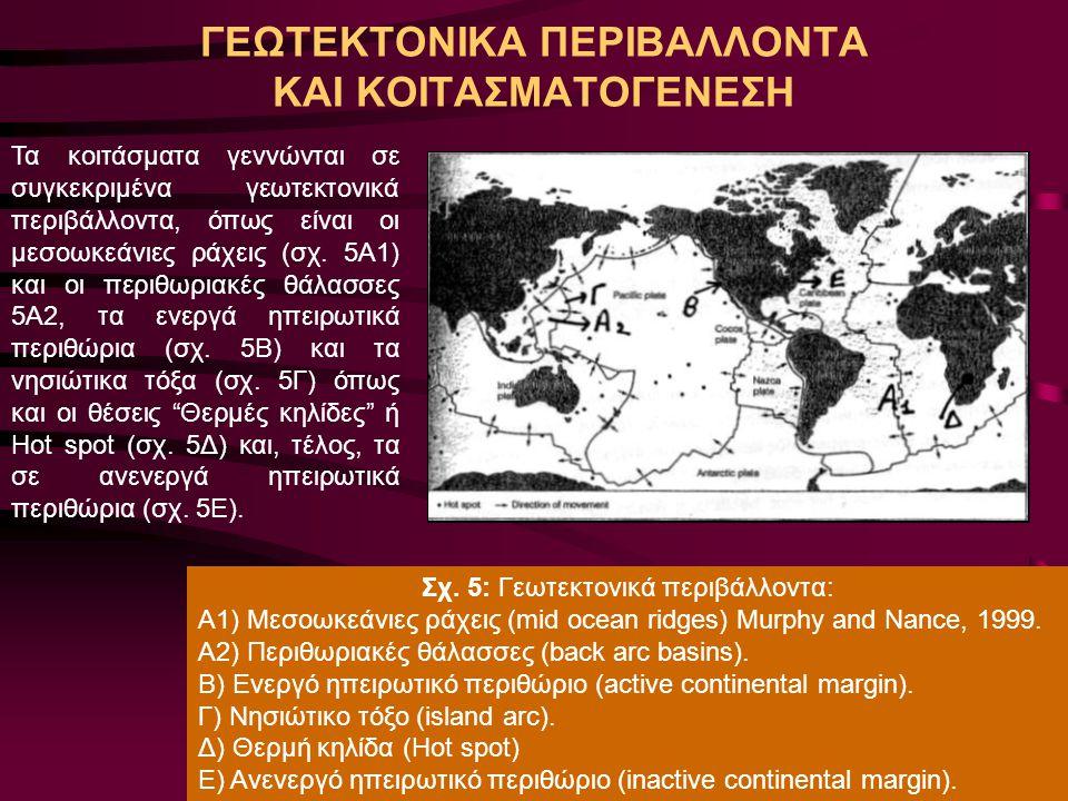 Α. Ορφανουδάκη, Κοιτασματολογία_Γενικές Έννοιες ΓΕΩΤΕΚΤΟΝΙΚΑ ΠΕΡΙΒΑΛΛΟΝΤΑ ΚΑΙ ΚΟΙΤΑΣΜΑΤΟΓΕΝΕΣΗ Τα κοιτάσματα γεννώνται σε συγκεκριμένα γεωτεκτονικά πε