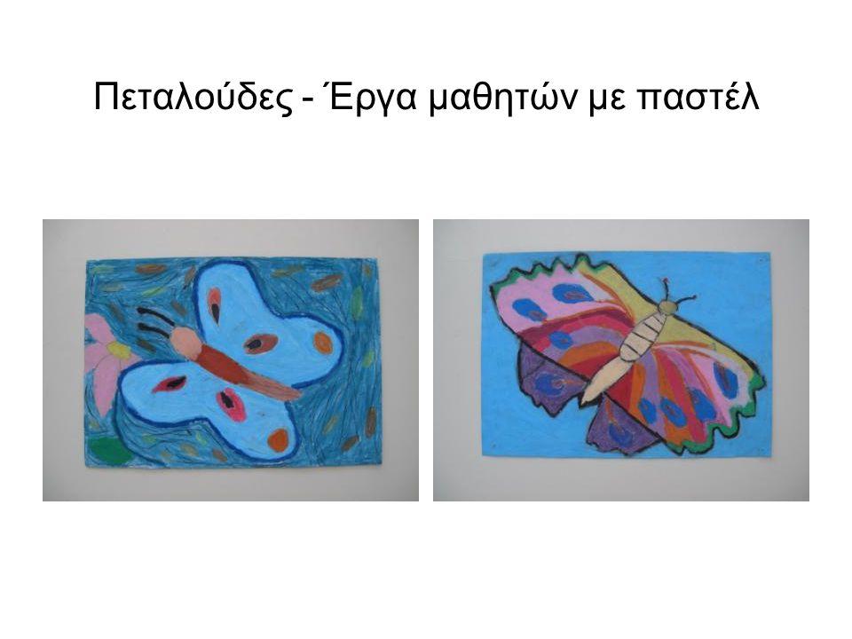 Πεταλούδες - Έργα μαθητών με παστέλ