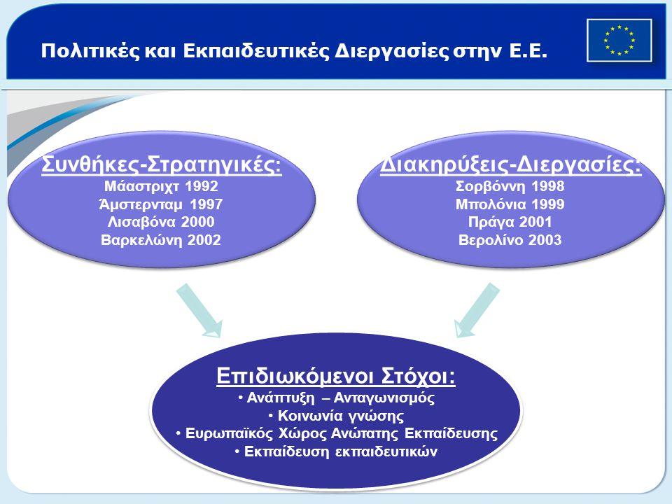 Πολιτικές και Εκπαιδευτικές Διεργασίες στην Ε.Ε.