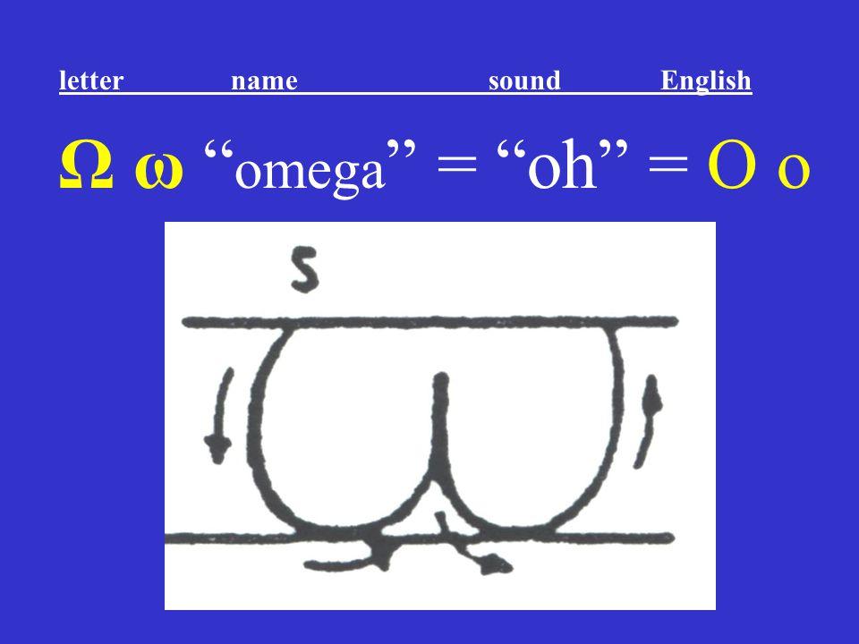 """Ω ω """" omega """" = """"oh"""" = O o letter name sound English"""