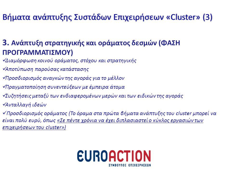 3. Ανάπτυξη στρατηγικής και οράματος δεσμών (ΦΑΣΗ ΠΡΟΓΡΑΜΜΑΤΙΣΜΟΥ) Διαμόρφωση κοινού οράματος, στόχου και στρατηγικής Αποτύπωση παρούσας κατάστασης Πρ