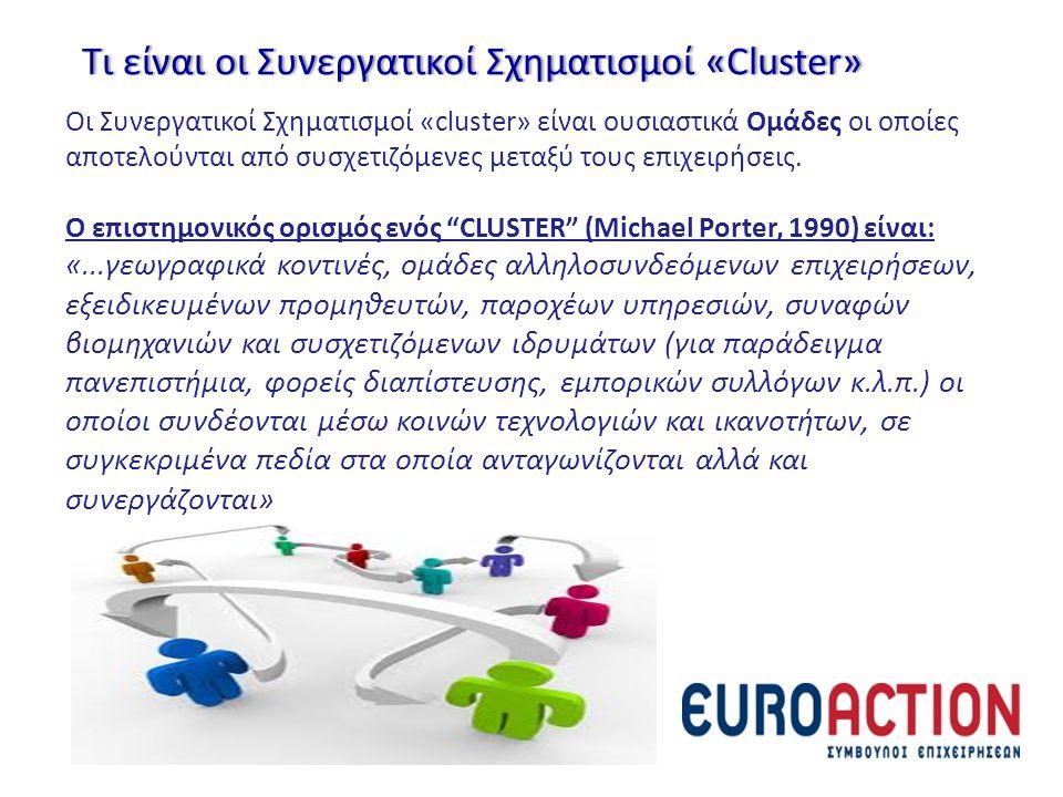 Τι είναι οι Συνεργατικοί Σχηματισμοί «Cluster»Τι είναι οι Συνεργατικοί Σχηματισμοί «Cluster» Οι Συνεργατικοί Σχηματισμοί «cluster» είναι ουσιαστικά Ομ