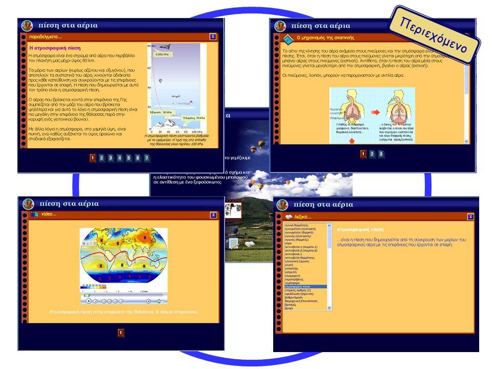 παραδείγματα και εφαρμογές video λεξικό βιογραφίες πρόσθετο διαθεματικό υλικό εισαγωγική σελίδα θέματος Περιεχόμενο